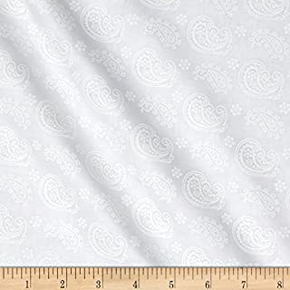 Wilmington Prints Essentials Cookie Dough Paisley Toss Fabric, Sugar, Fabric by the yard