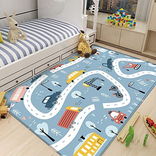 Alfombra Bebe de Habitacion Salon Exterior 3D Redonda Alfombras Infantiles (D309, 80x120 cm,31.4x47.2 )