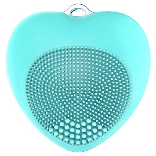 TOOGOO Bleu Coeur Nettoyant Facial éLectrique éTanche Brosse de Nettoyage Machine de Massage Silicone Dispositifs de Nettoyage Du Visage Outils