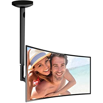 Pyle PCTVM15 Universal Tilt and Swivel Adjustable TV Ceiling Mount Bracket Fits 17-Inch to 37-Inch