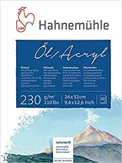 Hahnemuhle Oil & Acrylic Block Mixed Media Sketch Pad - 230 GSM - 24 * 32 (cm)