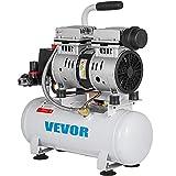VEVOR Compresor de Aire sin Aceite de 2 Galones Silencioso Tanque de 9 Litros Compresor de Aire Silencioso Compresor de 550 W con Motor de Cobre Puro