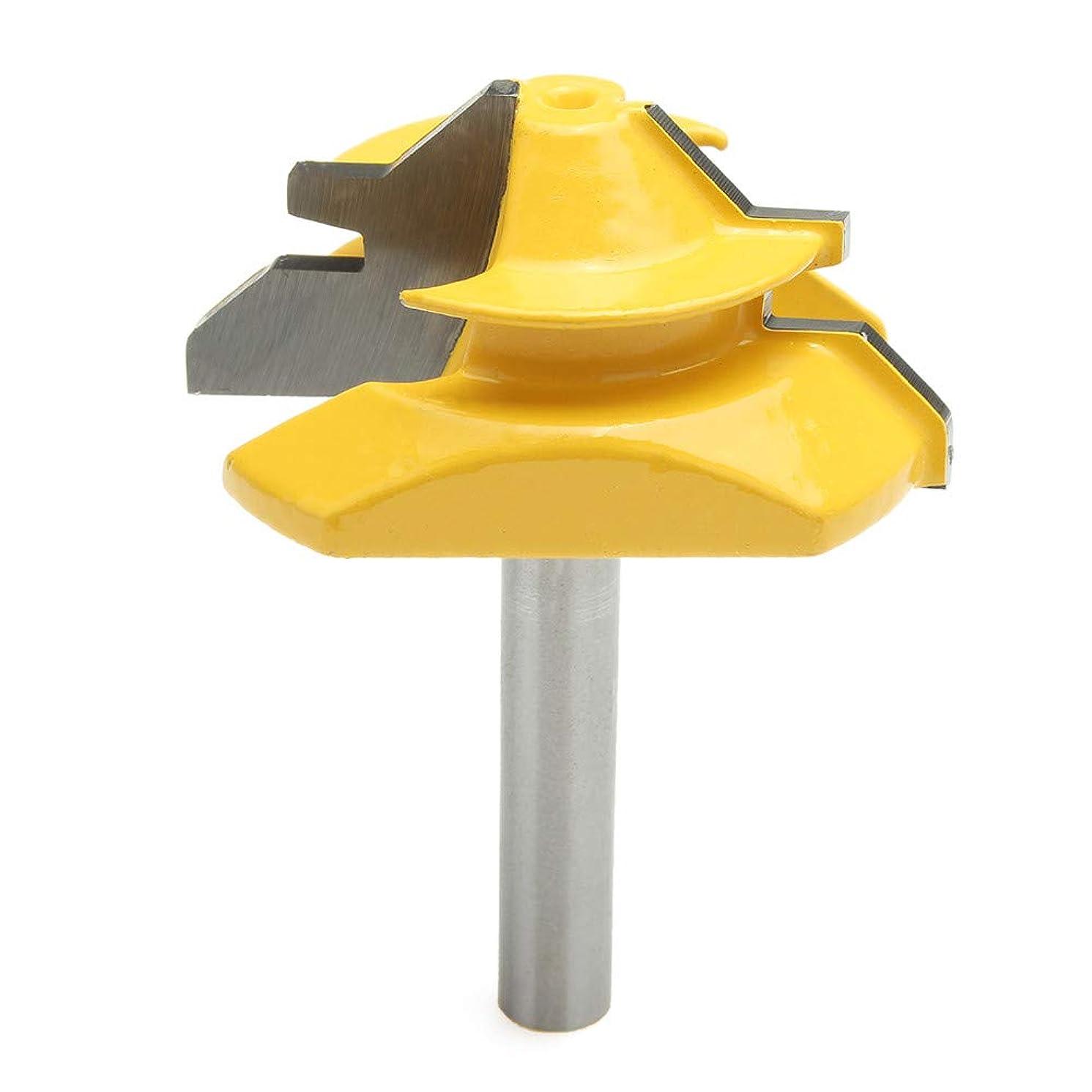 WCHAOEN 45 Degree Lock Miter Glue Joint Router Bit Woodworking Cutter 8mm Shank Diameter Accessories Tool