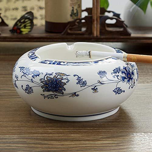 Salón retro moda y práctico cenicero de cerámica cenicero para el hogar-azul...