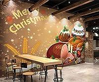 写真の壁紙3D壁画クリスマスをテーマにしたパンデザートの背景の壁現代のHdポスター大きな壁のステッカーツーリング壁アート装飾壁の装飾-137.8x98.4inch