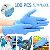Enjoyee 100 Pcs Disposable Gloves PVC Free Rubber Latex Free Exam Gloves Non Sterile Comfortable...