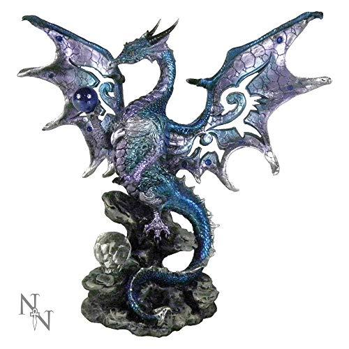 Nemesis Now Blue Dragon Protector 20.5cm Figurine Figur mit blauem Drachenschutz, 20,5 cm, Einheitsgröße