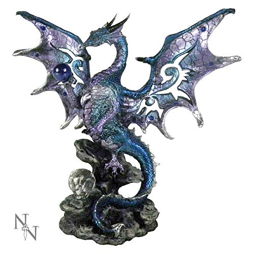Nemesis Now Blue Dragon - Figura Decorativa (26 cm), Color Azul