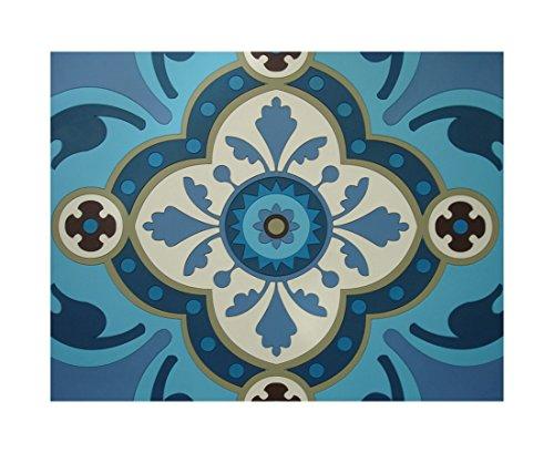 D'ORIENT en silicone Sets de table – Sejjadeh Azur – Lot de 2 – Grande