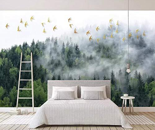 LOVEJJ 3D Papel tapiz brumoso mural No tejido Mural Papel pintado panorámico Decoración Habitación De Fondo De Tv Ancho 200cmx140cm