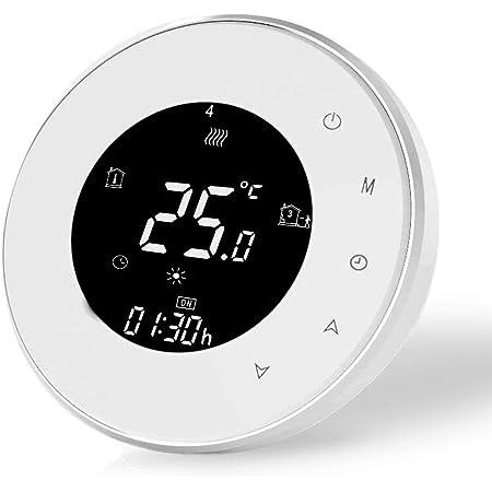Termostato Wifi Inteligente Compatible con Alexa Google Home-Termostato Digital Inalambrico Calefaccion para Caldera de Gas,Controlador de Temperatura Programable 3A,220v