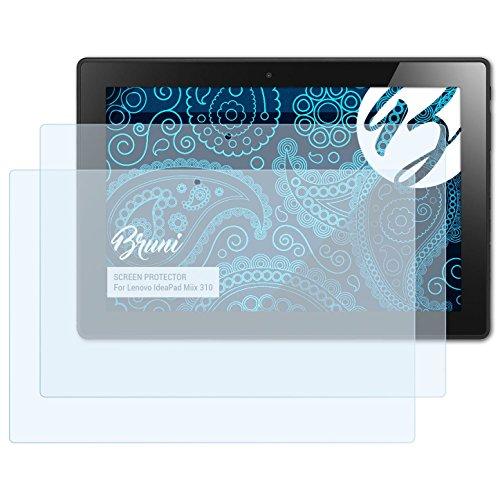 Bruni Schutzfolie kompatibel mit Lenovo IdeaPad Miix 310 Folie, glasklare Displayschutzfolie (2X)