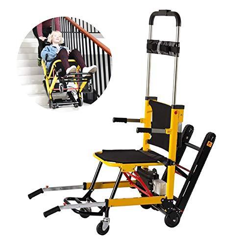 POEO Elektrischer Klettern Rollstuhl, Leichter Faltbarer Elektrorollstuhl, Rollstuhl auf und ab Treppen Klettern Auto