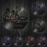 Candy Fruit Ice Cream Cherry Disco de Vinilo Reloj de Pared Bebida Snack Bar Cocina Colgante de Pared decoración de la habitación de la niña Reloj LED