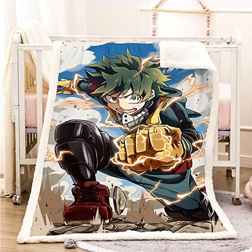 jiushice My Hero Academia Funny Character Blanket 3D Print Sherpa Blanket on Bed Home Textiles Dreamlike Style 12,07,S 130x150cm