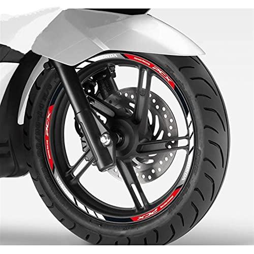 Calcomanía para motocicleta H-onda PCX 125 150 con banda reflectante para llanta de rueda (color: rojo)