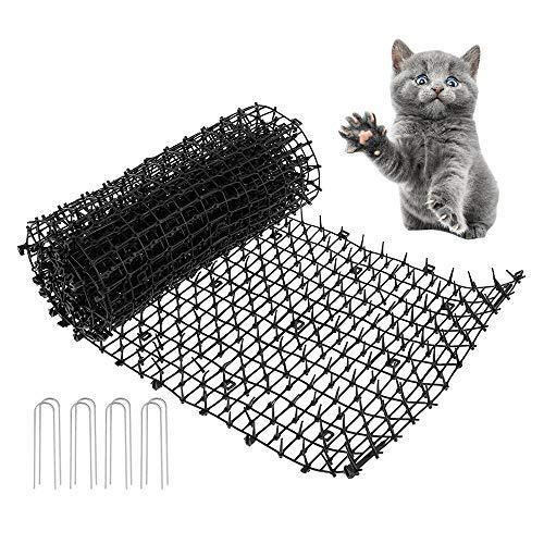 ODOMY Dissuasori per Gatti/Tappetto Anti Gatto con Punte Anti Volpe Tappetino Anti-Gatti con Punte O con Strisce di Punte per Dissuasione Animali Domestici (200 * 28CM)