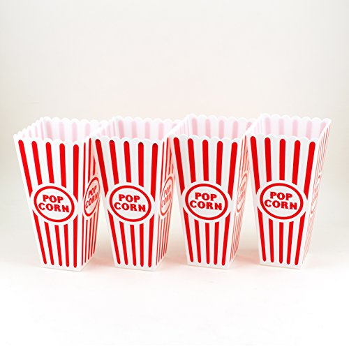 Product Image 3: Tytroy 4 Piece Plastic Reusable Movie Theater Style Popcorn Container Set