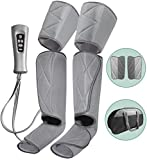 Leg Massager for Circulation - Foot and Calf Massager Air Compression Leg and Thigh Wraps Massage Boots Machine for Home Use Relaxation with Controller
