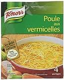Knorr Soupe Poule Vermicelles, Soupe déshydratée, Ingrédients issus de l'agriculture durable, 4 portions 63g