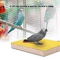 オウムパーチ、ウッドオウムスタンド、バードパーチ、ペットバード用鳥かご用ペット用品(Yellow long side screw)