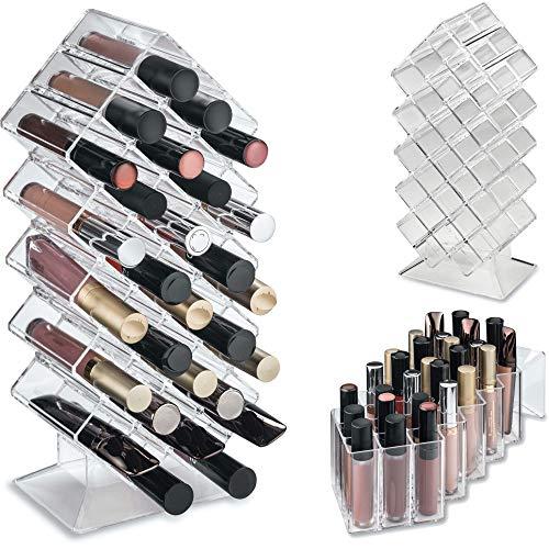 byAlegory Acryl Lipgloss Makeup Organizer | 28 Räume, die flach stehen und gestapelt werden sollen