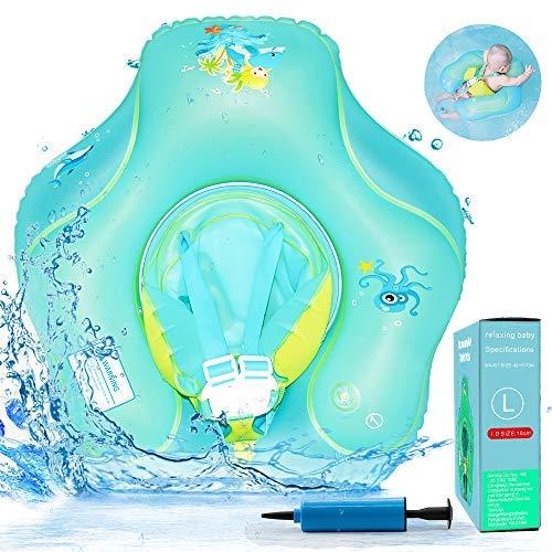 RuoCherg Flotador de Natación para Bebés, Anillo de Natación Bebé Juguetes de Piscina Inflable de Piscina Nadar Anillo para Niños Bebés para bebé de 6-30 Meses Edad (L)