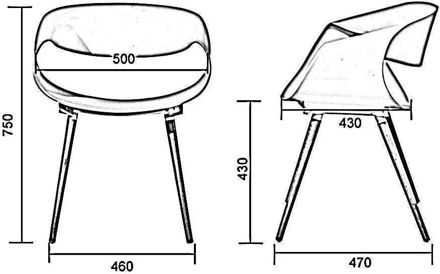 GY-C Chaises Chaise de ménage Siège en plastique Dossier courbé Pied en bois avec accoudoirs Assemblage multifonctionnel Restauration Bar de loisirs jhfk/A D