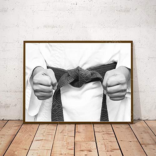 "Auoeer Modern Karate Kimono Sports Wall Art Impresión en Lienzo sobre Lienzo Carteles e Impresiones Nordic Living Room Decoración para el hogar 15.7""x23.6 (40x60cm) Sin Marco"