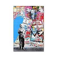 ストリート落書きアートあなたの夢のようなキャンバス絵画抽象的なポップアートキャンバスポスターリビングルームの家の装飾のためのプリント (Color : JC405 2, Size (Inch) : 20X30cm Unframed)