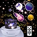 Rotatable Starry Projector Night Lights with Bluetooth Music Speaker
