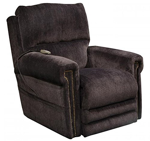 Catnapper Warner 764862 Power Lift Lay Out Dual Motor Infinite Position Recliner Chair - Power Lumbar Support Power Headrest - Extended Ottoman Footrest - 300 Capacity Slate with in-Home Delivery