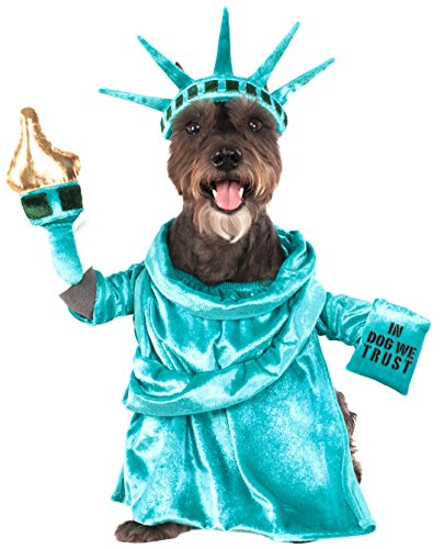 Dog Costume Statue of Liberty With Arms