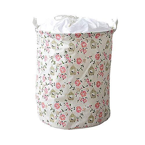WESEEDOO wäschekorb Baby wäschekorb Kinder Babykorb zur Aufbewahrung von Kleidung Baby Wäschekorb Stoffaufbewahrungskorb Spielzeugkorb