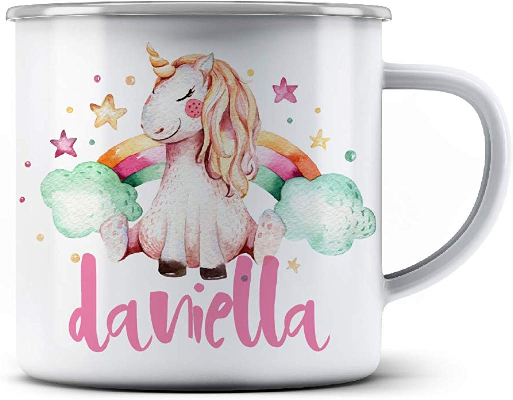 Rainbow Unicorn PRIDE Personalized Stainless Steel Camping Coffee Mugs With Name FREE CUSTOMIZATION 12 Oz Christmas Gifts Birthday Gifts Campfire Favors 3 Different Designs D3