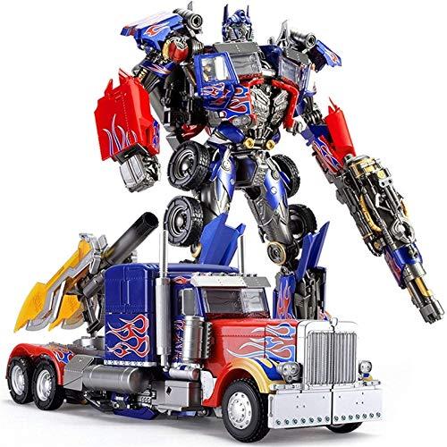 Regalo para niños Transform TOYS ROBOT LS-03 Comandante de campo de batalla Versión ampliada Optimus Prime Autobot Alloy Modelfor regalos de cumpleaños para niños niñas, juguetes educativos para niños