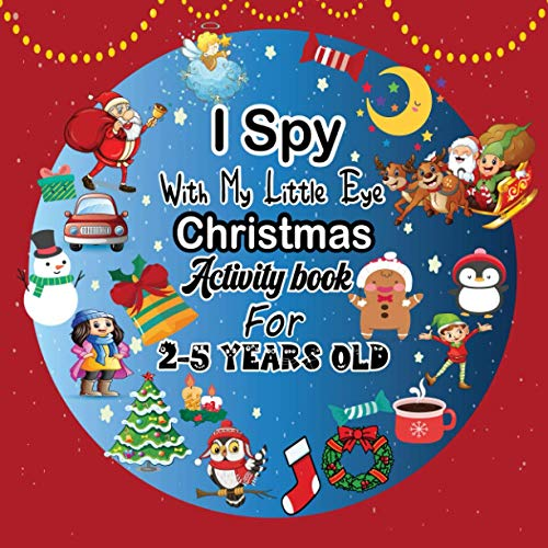 I Spy With My Little Eye Christmas Activity book For 2-5 Yea
