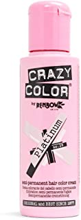 Crazy Color by Renbow No.28 Platinum Semi-Permanent Cream 100ml