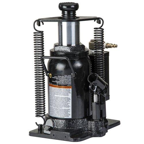 Omega 18206C Black Hydraulic Bottle Jack with Return Springs - 20 Ton Capacity