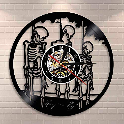 wtnhz Reloj de Pared con Disco de Vinilo LED Reloj de Vinilo de 12' Movimiento de Cuarzo Reloj de Pared con CD clásico