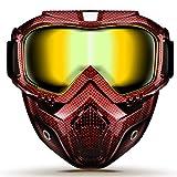GGBuy Bullet Fight Motocross Masque amovible anti-brouillard de casque de moto chaud avec filtre de bouche réglable et sangle...