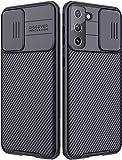 NILLKIN Funda Samsung Galaxy S21+/S21 Plus, [Protección de la cámara] Estuche híbrido Parachoques Premium no voluminoso Delgado Funda rígida para PC para Samsung Galaxy S21+(6.7'')