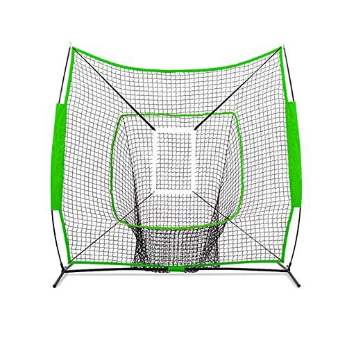 JYGHM Baseball Batting Practice Net, 7 x7  Baseball e Softball Practice Net, Portable Colpire, Pitching e Catching Net con Borsa di Trasporto, per l allenamento di Battuta