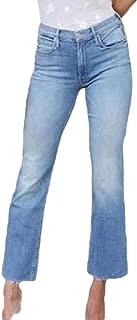 Women's Fashion High Waist Straight Leg Jeans Wide Leg Crop Pants