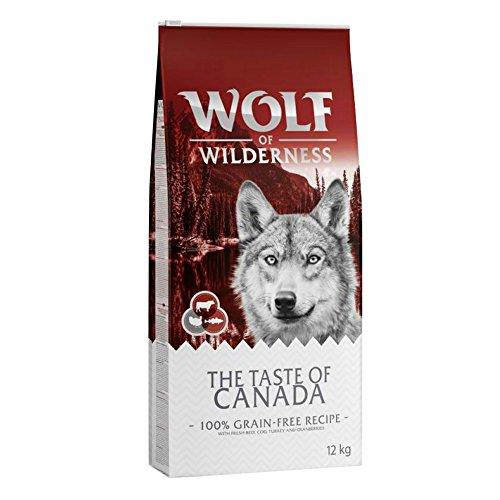 Wolf of Wilderness The Taste of Canada Trockenfutter für ausgewachsene Hunde mit frischem Rind, Dorsch und Truthahn (12 kg)