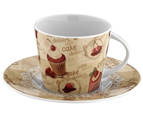 Mitterteich Kutahya, in porcellana per tè, caffè, tazze e piattini (12 pezzi)