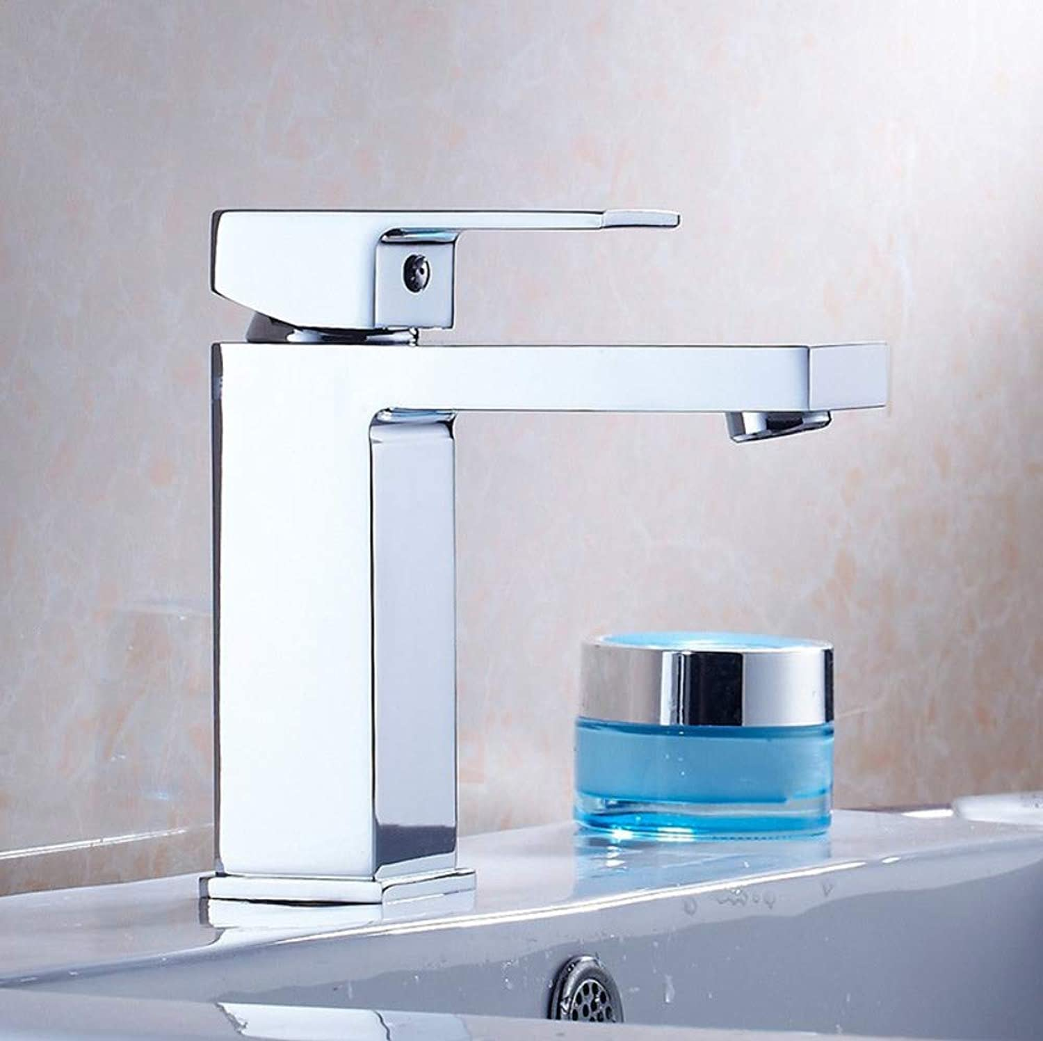 redOOY Faucet Taps Basin Faucet Basin Faucet Bathroom Cabinet Square Hot And Cold Thickening