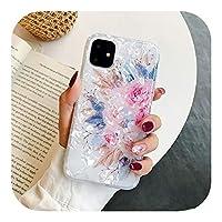 Arbbg レトロフローラルリングスタンド電話ケースFor iPhone12 Mini 11 Pro Max XR XS Max X XS 7 8PlusケースソフトIMDドリームシェルカバー-i(No Ring)-For iPhone 6 6S