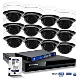 MorphXStar 16CH 4K NVR Network IP Security Camera System - 12 x HD 2160P 6MP 2.8~8mm Motorized Lens 80ft IR PoE IP Dome Camera + 4TB Hard Drive + 16 Ports PoE Switch