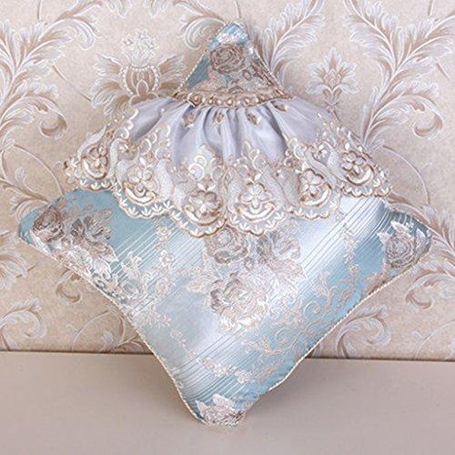 foncé crème blanc /& terre cuite rayures evans lichfield coussin couverture Turquoise crème